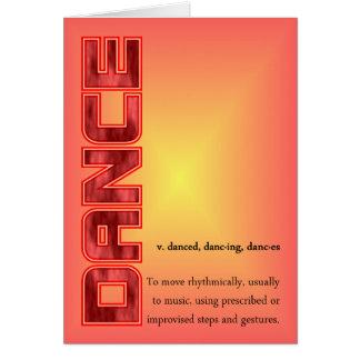 ダンス定義 カード