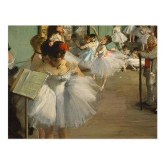 ダンス教室のバレエダンサーのガスを抜いて下さい ポストカード