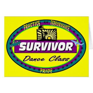 ダンス教室の挨拶またはメッセージカード カード
