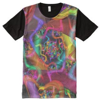 ダンス2のサイケデリックな抽象芸術の罰金のフラクタル オールオーバープリントT シャツ