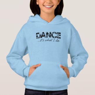 ダンス…それは私がフード付きスウェットシャツ-青--をすることです