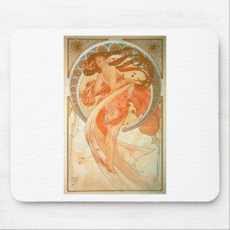 """""""ダンス""""の-アールヌーボー-アルフォンス島のミュシャ マウスパッド"""
