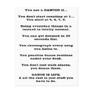 ダンス、ダンサー、バレエ、ヒップホップ、ジャズ、タップ、モダン、 キャンバスプリント
