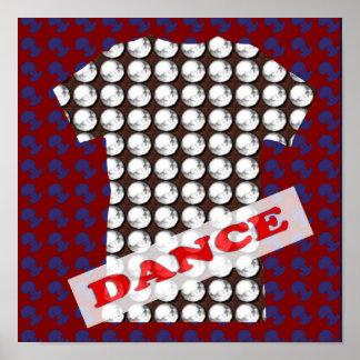ダンス・フロアのパーティー部屋のイベント-幸せな表示ギフト ポスター