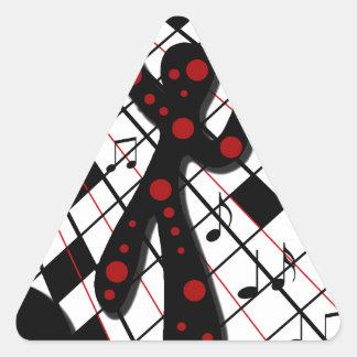 ダンス・フロア 三角形シール・ステッカー