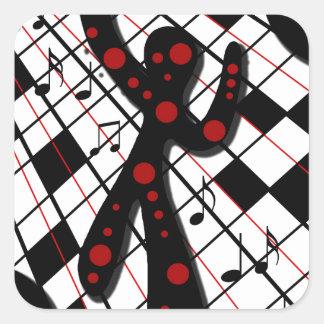 ダンス・フロア 正方形シール・ステッカー