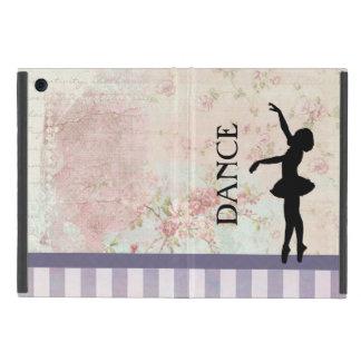 ダンス-ヴィンテージの背景のバレリーナのシルエット iPad MINI ケース