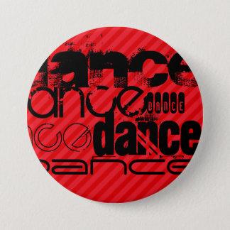 ダンス; 深紅の赤のストライプ 7.6CM 丸型バッジ