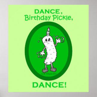 ダンス、誕生日のピクルス、ダンス! ポスター