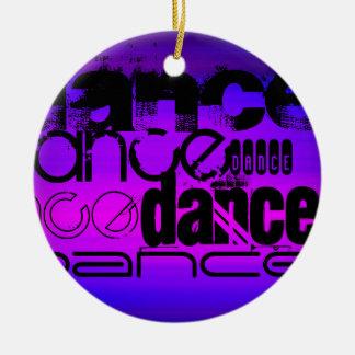 ダンス; 鮮やかなすみれ色の青およびマゼンタ セラミックオーナメント