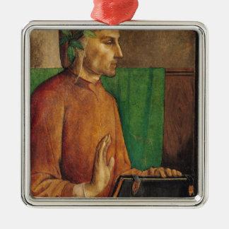 ダンテ・アリギエーリ、c.1475のポートレート メタルオーナメント