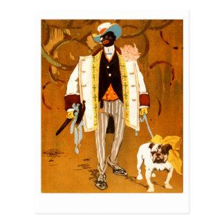 ダンディな人および彼の犬 ポストカード
