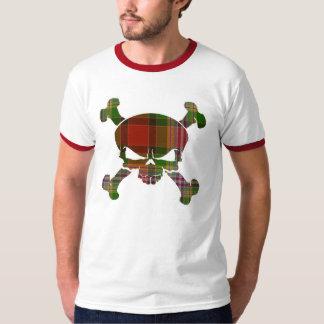 ダンディーのタータンチェックのスカル旗のワイシャツ無し Tシャツ