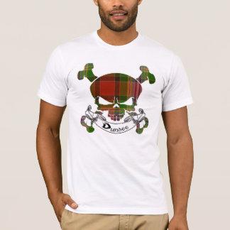 ダンディーのタータンチェックのスカル Tシャツ