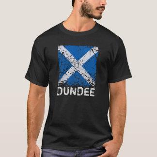ダンディー + 正方形のグランジなスコットランドの旗 Tシャツ