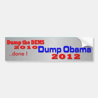 ダンプオバマ2012年 バンパーステッカー