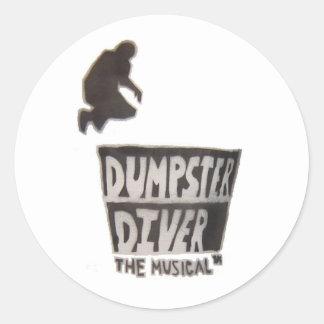 ダンプスターのダイバー…音楽的なステッカー ラウンドシール