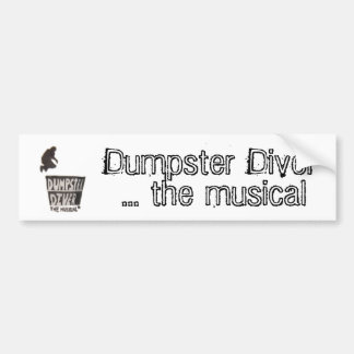 ダンプスターのダイバー…音楽的なバンパーステッカー バンパーステッカー