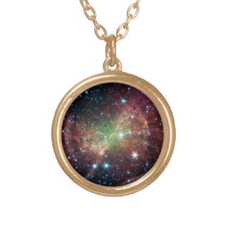 ダンベルの星雲 ゴールドプレートネックレス