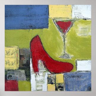ダンRobertson著女の子愛宇宙及び赤い靴 ポスター