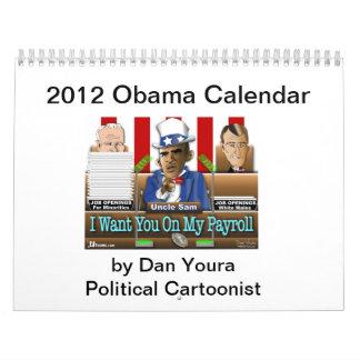 ダンYoura著連合カレンダーの2012年のオバマの州 カレンダー