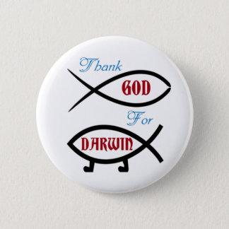 ダーウィンのために神を感謝していして下さい 缶バッジ