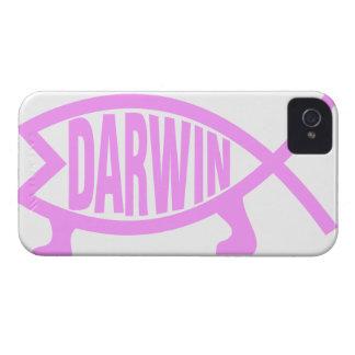 ダーウィンのピンクの魚 Case-Mate iPhone 4 ケース