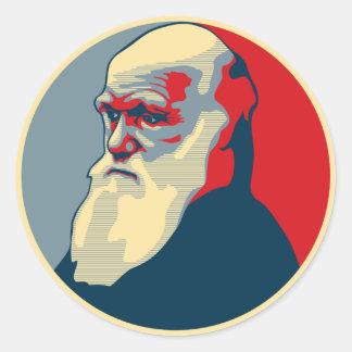 ダーウィンの文字無し ラウンドシール