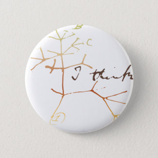 ダーウィンの生命の樹: 私は考えます 缶バッジ