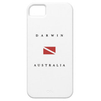 ダーウィンオーストラリアのスキューバ飛び込みの旗 iPhone SE/5/5s ケース