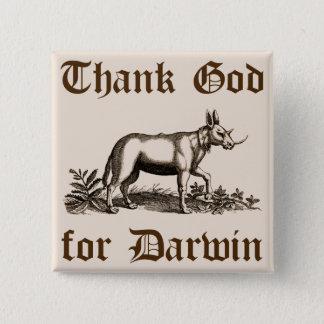 ダーウィンボタンのために神を感謝していして下さい 缶バッジ