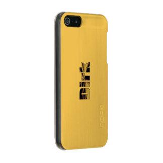 ダークの金終わりのiPhoneの箱 メタリックiPhone SE/5/5sケース