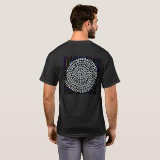 ダークを背景色にした「算数曼荼羅」シャツ Tシャツ