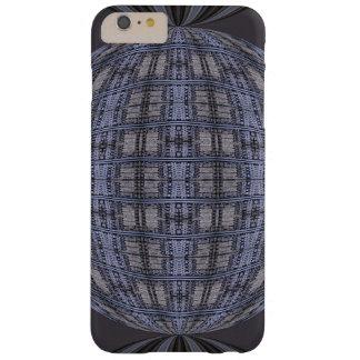 ダークグレーの青い地球の抽象芸術 BARELY THERE iPhone 6 PLUS ケース