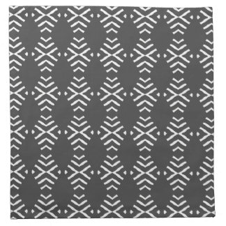 ダークグレー4および白いデザインの置かれるナプキン ナプキンクロス
