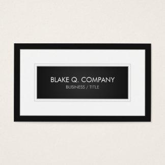 ダークグレー/黒および大きく白いフレーム 名刺