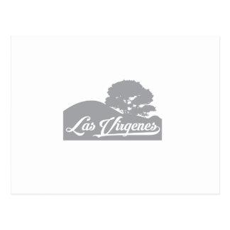 ダークグレーLas Virgenesの景色 ポストカード