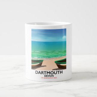 ダートマスデボンのビーチポスター ジャンボコーヒーマグカップ