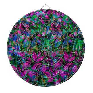 ダート盤の花柄の抽象芸術のステンドグラス ダーツボード