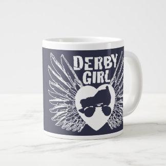 ダービーの女の子、ローラーダービー ジャンボコーヒーマグカップ