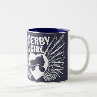 ダービーの女の子、ローラーダービー ツートーンマグカップ