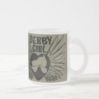 ダービーの女の子、ローラーダービー フロストグラスマグカップ