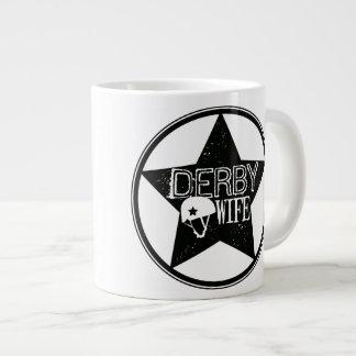 ダービーの妻、ローラーダービー ジャンボコーヒーマグカップ