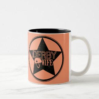ダービーの妻、ローラーダービー ツートーンマグカップ