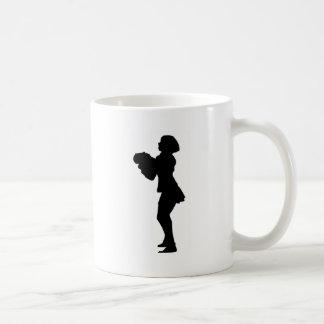 チアリーダーのシルエット コーヒーマグカップ