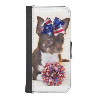 チアリーダーのチワワ犬 iPhoneSE/5/5sウォレットケース