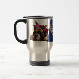 チアリーダーのボクサー犬 トラベルマグ