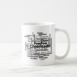 チアリーダーの単語の雲 コーヒーマグカップ