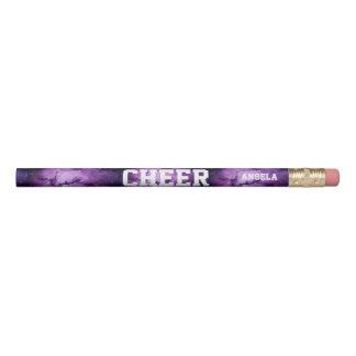 チアリーダーの紫色の銀河系の名前入りな鉛筆 鉛筆