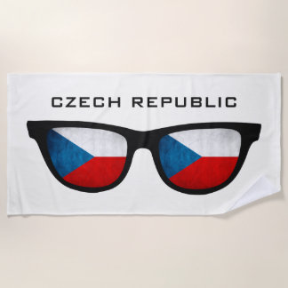 チェコの陰のカスタムな文字のビーチタオル ビーチタオル